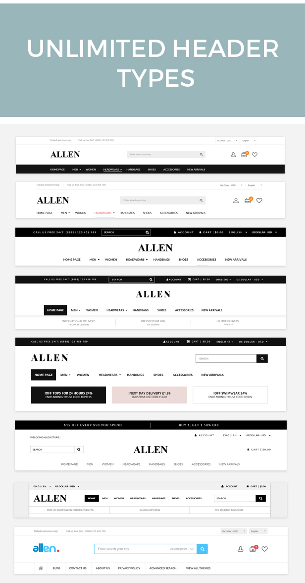 Allen - Multipurpose HTML eCommerce Template