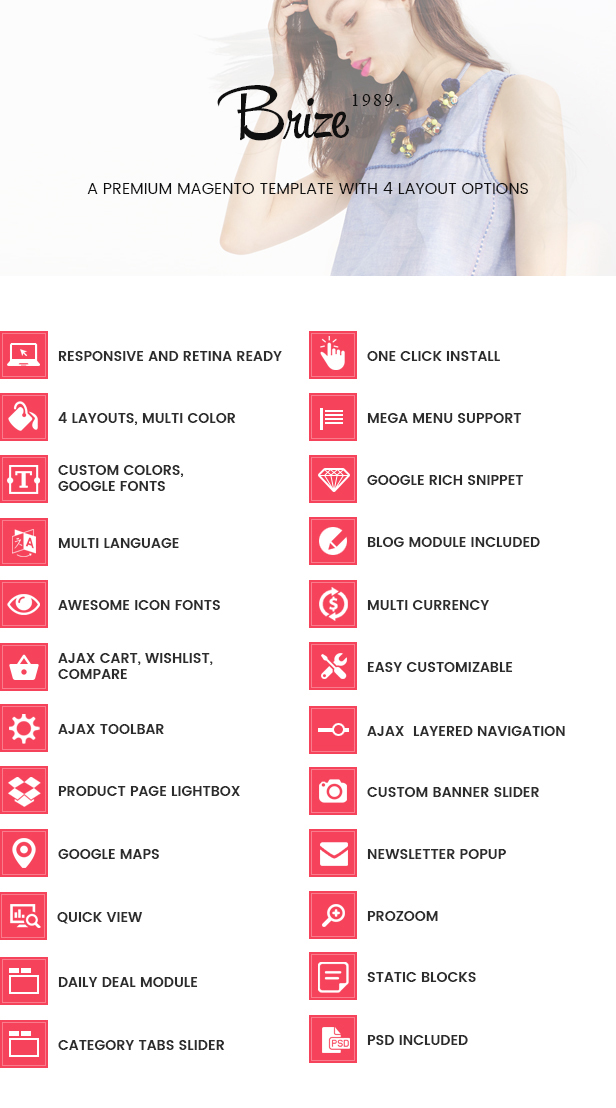 Brize - Responsive Magento Fashion Theme