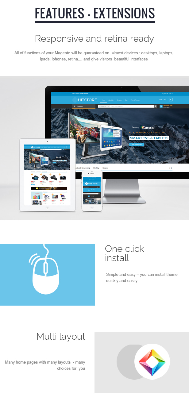 HitStore - Responsive Hitech Magento Theme