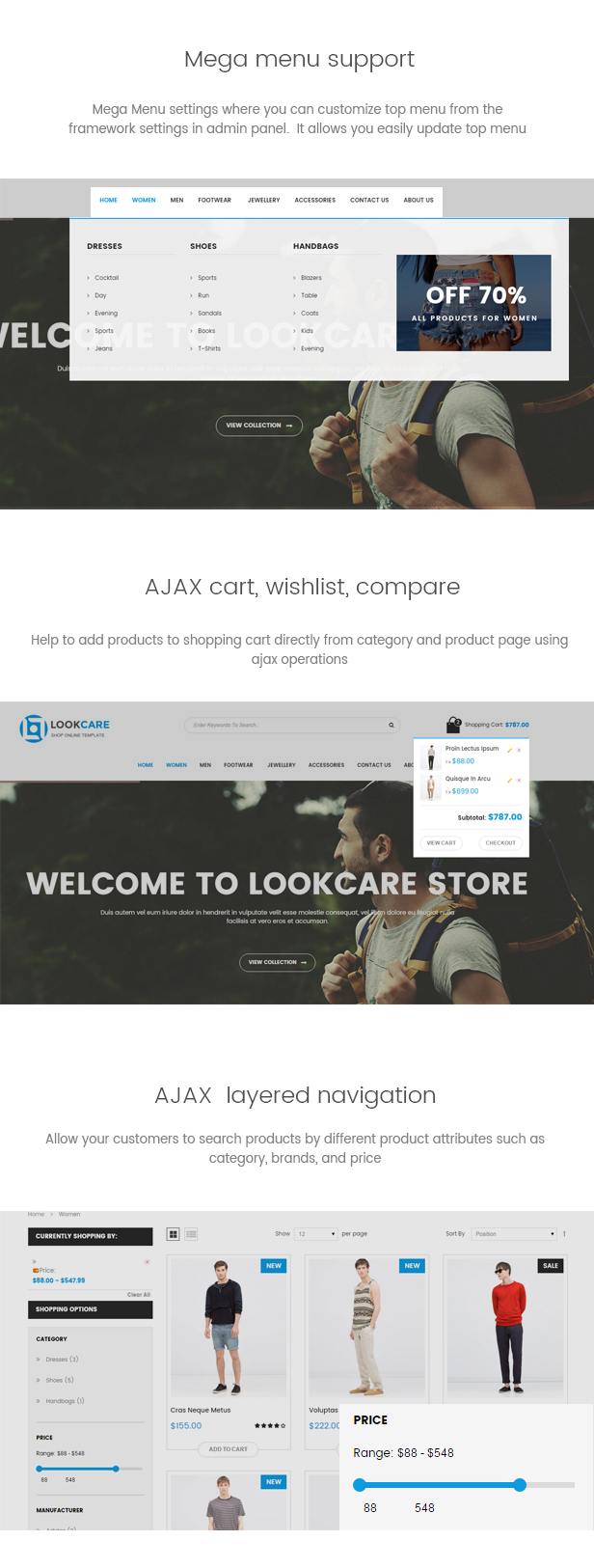 LookCare - Clothing & Fashion Magento Theme