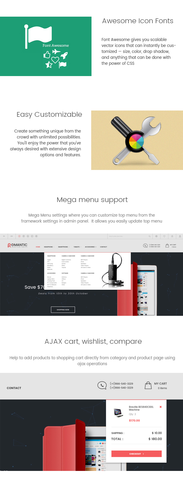 Romantic  - Multipurpose Responsive Magento Theme