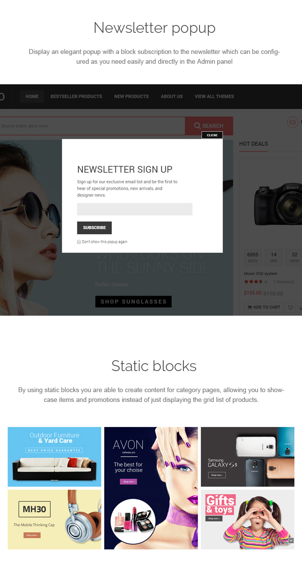 SOZO - Fluid Full Screen Magento Theme