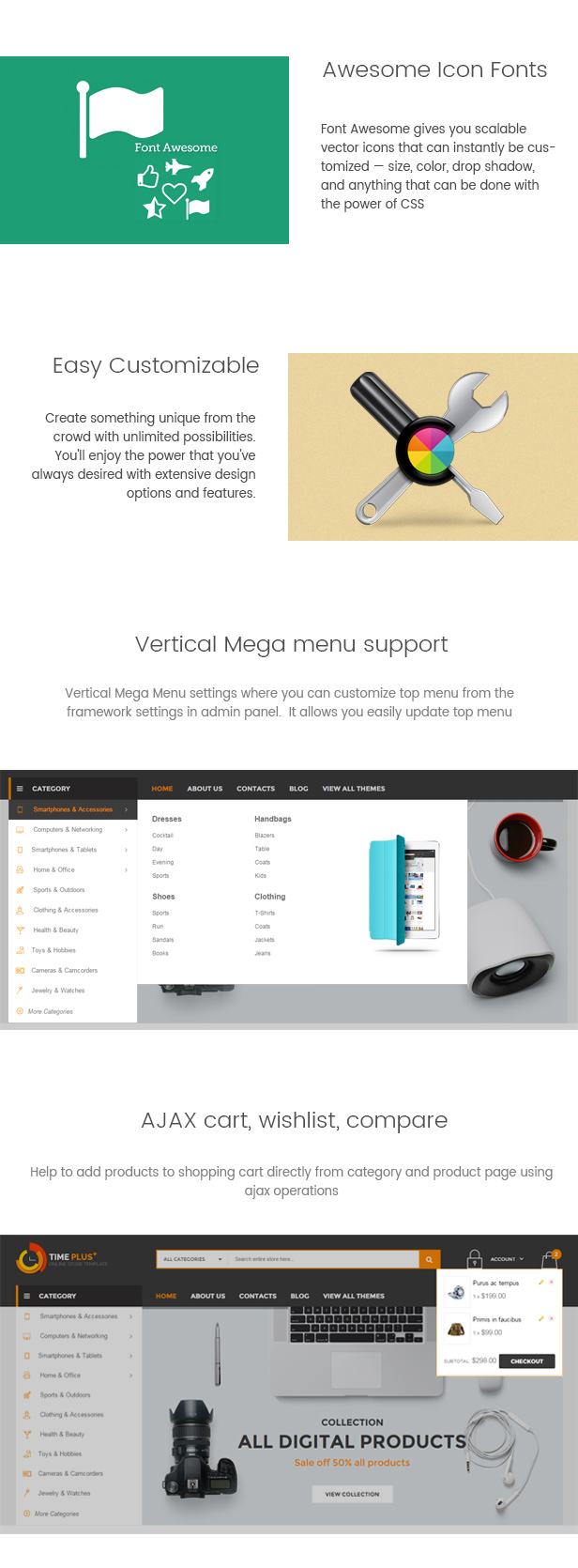 TimePlus - Mega Store Responsive Magento Theme