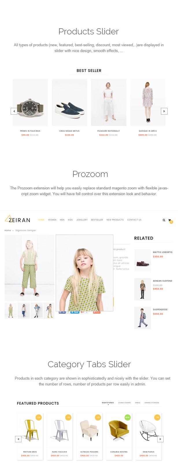 Zeiran - Multipurpose Responsive Magento Theme
